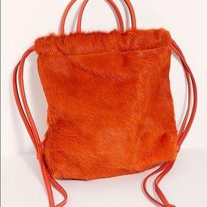 Free People x Primecut Cinch Backpack Burnt Orange